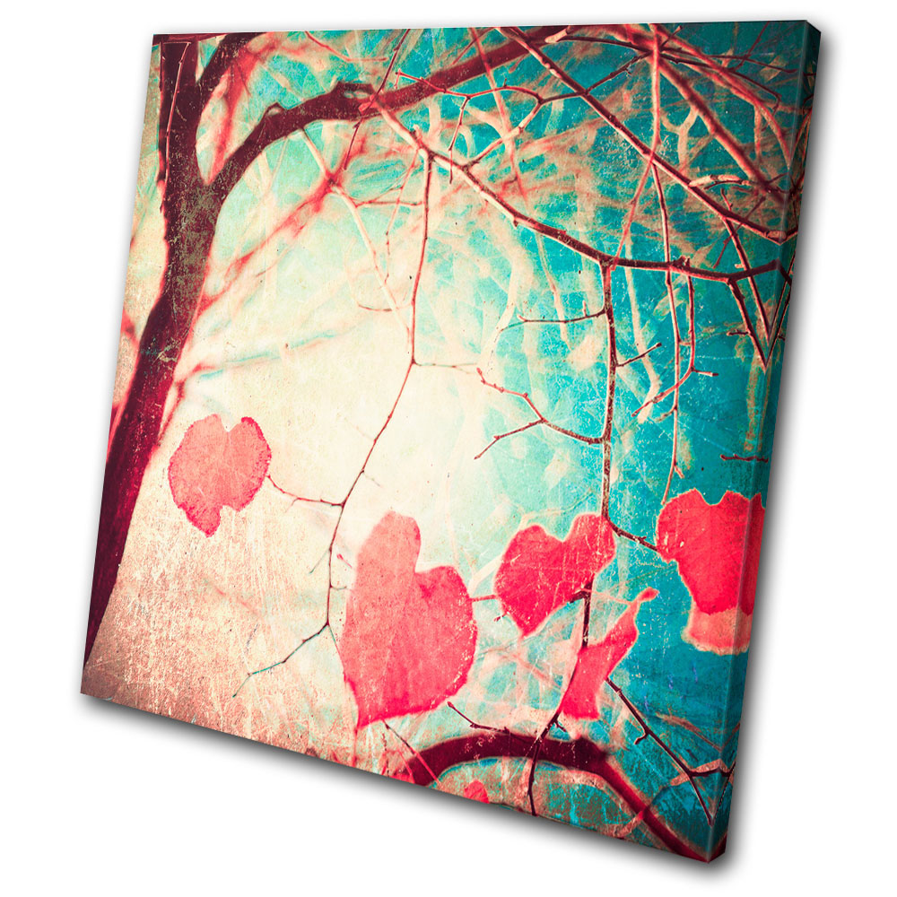 Wall Art Canvas Shabby Chic : Vintage hearts shabby chic single canvas wall art picture