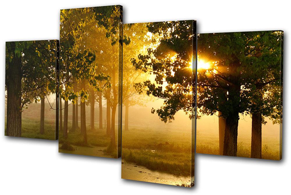 Wall Art Multi Canvas : Landscapes forest multi canvas wall art picture print va