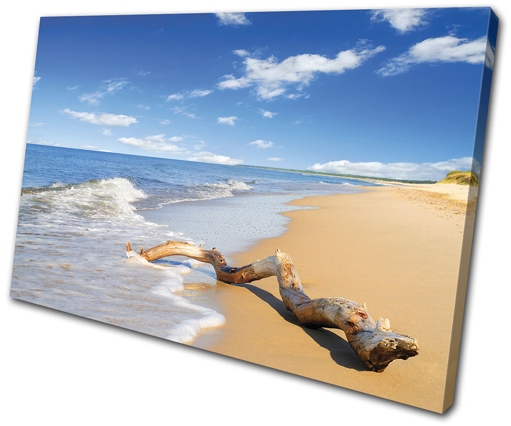 Sunset Seascape Beach Single Canvas Wall Art Picture Print