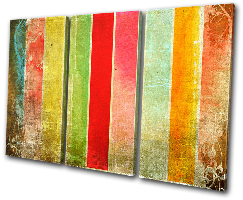 Abstract stripes funky treble canvas wall art picture for Funky wall art