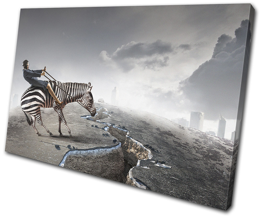40x70x3cm Abstract Fantasy Zebra Stretched Canvas Prints Wall Art Decor FRAMED