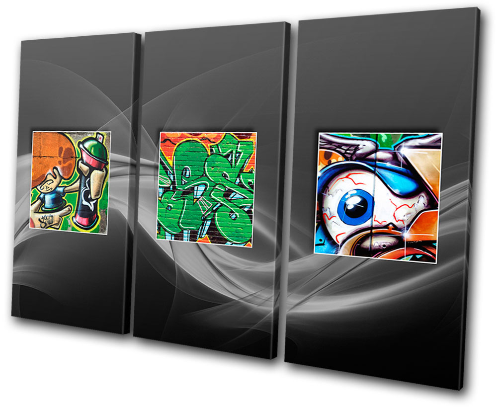 Details about graffiti abstract funky canvas wall art picture print va