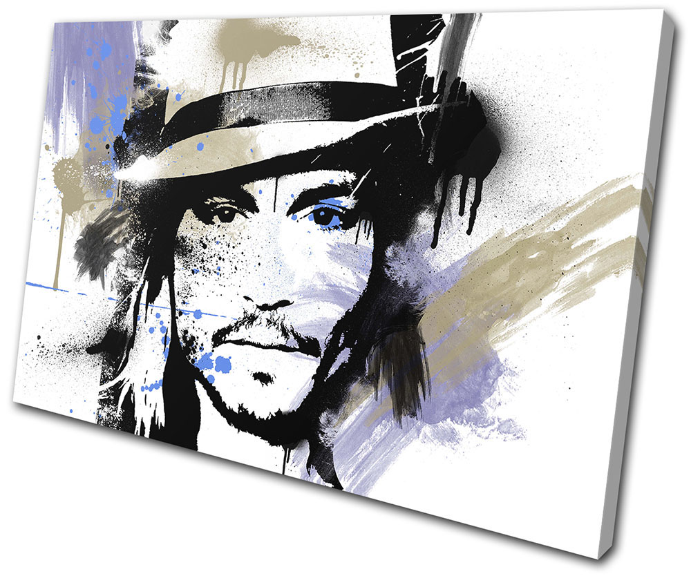 Johnny Depp Abstract Movie Greats BOX FRAMED CANVAS ART Picture HDR 280gsm
