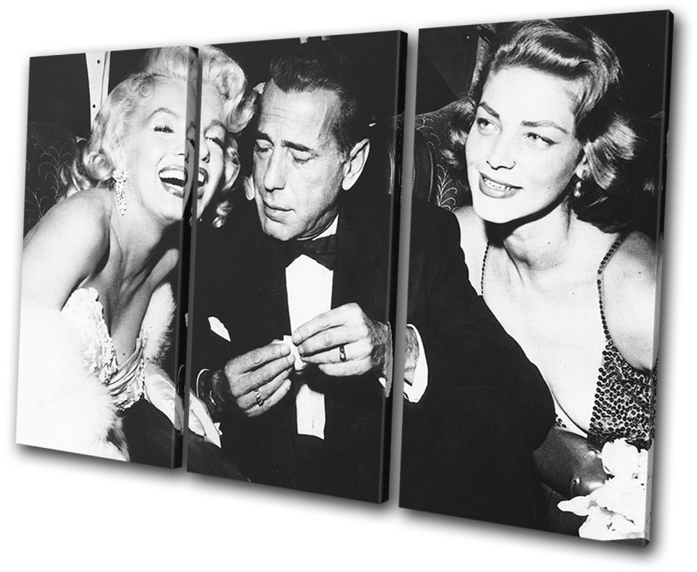 Monroe Bogart Iconic Celebrities MULTI CANVAS WALL ART Picture Print