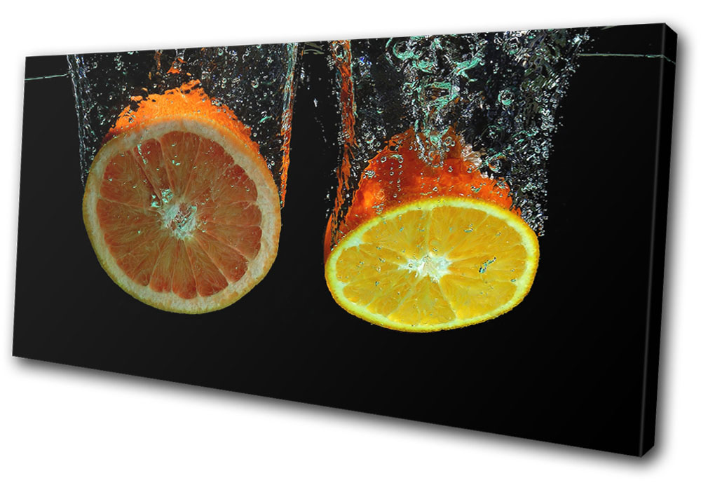 Food Kitchen Lime Fruit  SINGLE CANVAS WALL ART Picture Print VA