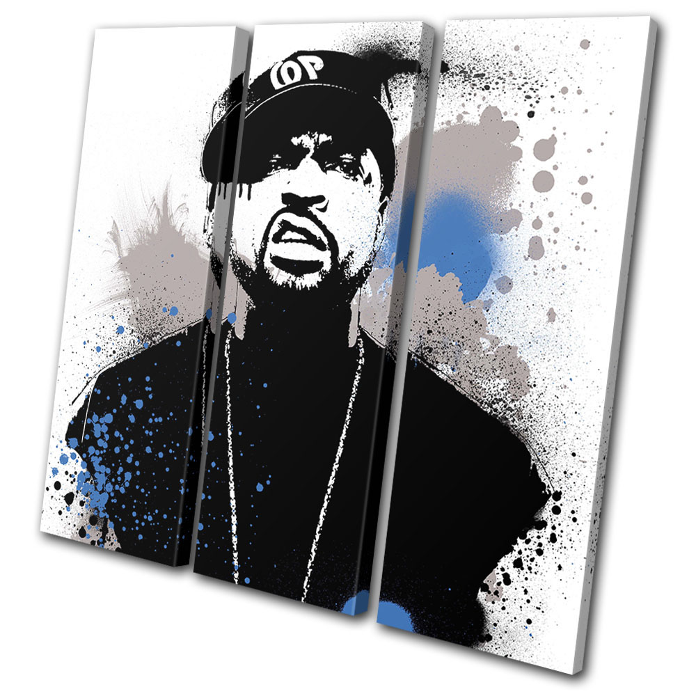 Ice Cubes  Food Kitchen SINGLE CANVAS WALL ART Picture Print VA